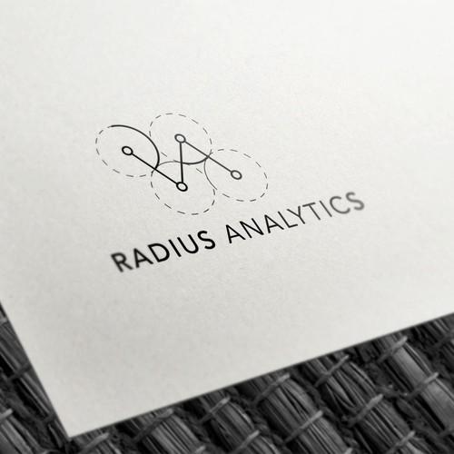 Minimalistic & geometric Radius analytics Logo