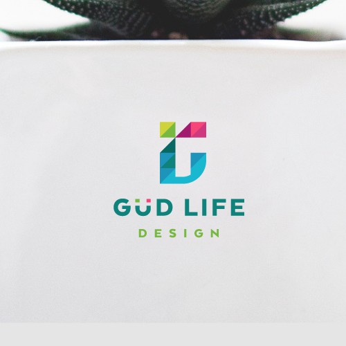 Vibrant logo design for Güd Life Design