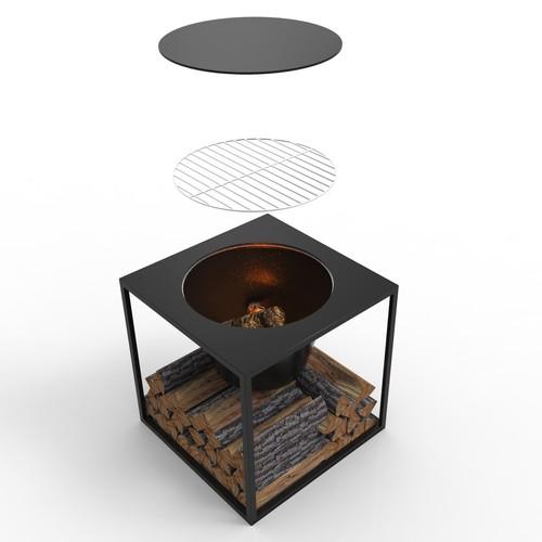 Firebowl and Log holders Design