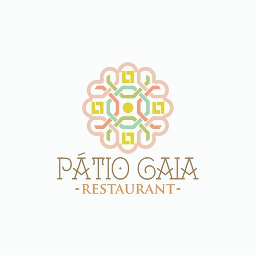 "Create a logo for Slow Food Restaurant, Cafe and Emporium ""Pátio Gaia""."