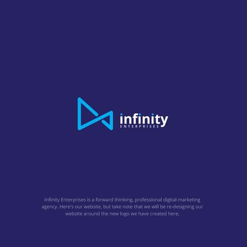 infinity enterprice logo design concept