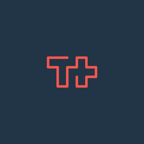 T+ logo for social/web icon design