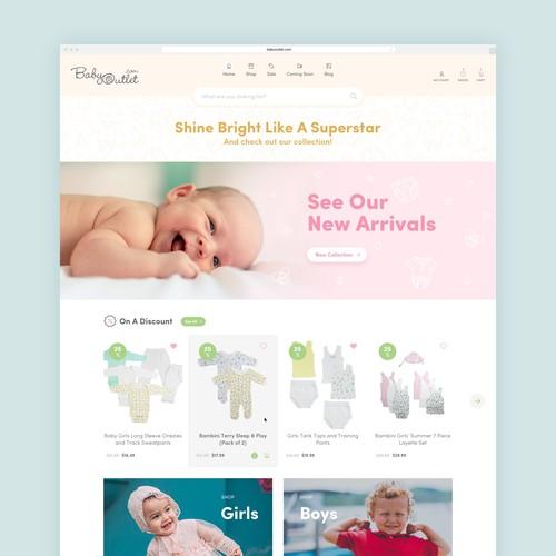 Web design for baby/toddler online shop