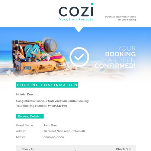 Cozi Email Template