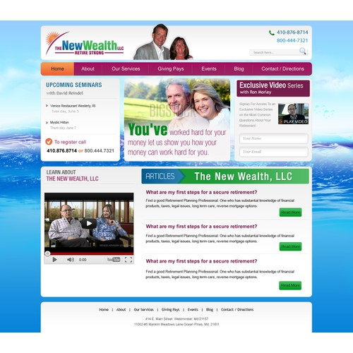 The New Wealth, LLC needs a new website or app design