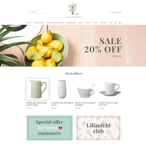 Lilianfeld webstore design