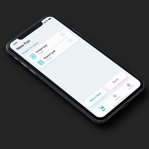 App Design for FAX App