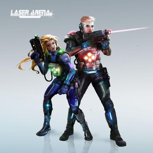 Figur Laser Arena