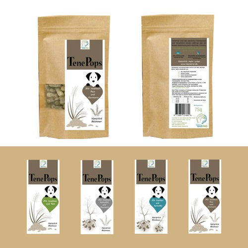 Label concept for dog food