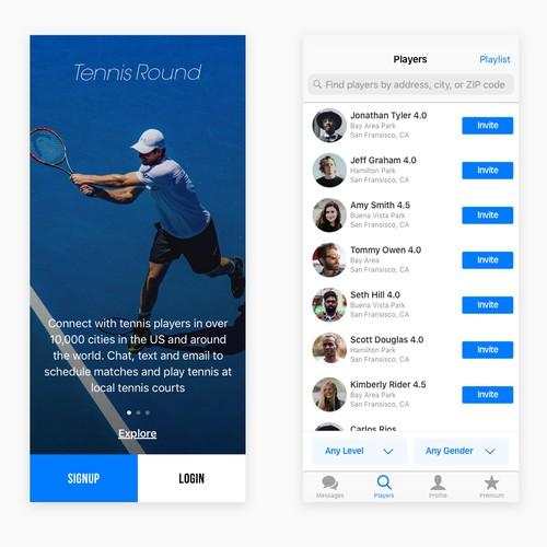 Tennis Round App Concept