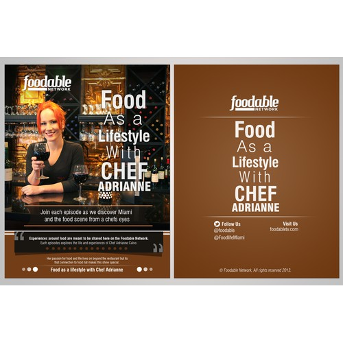 Create the next postcard, flyer or print for FoodableTV