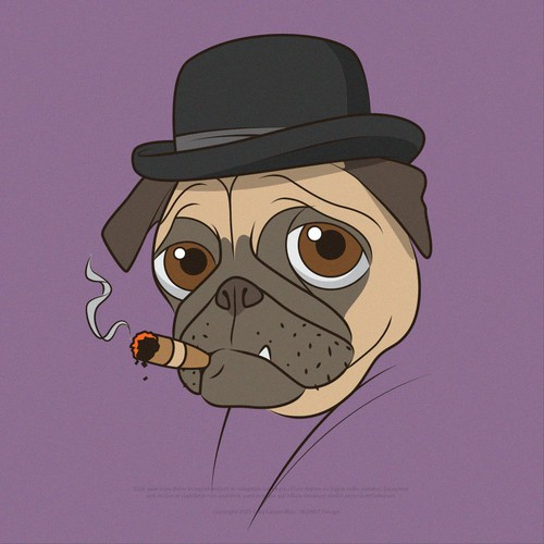A Cartoon Pug Character