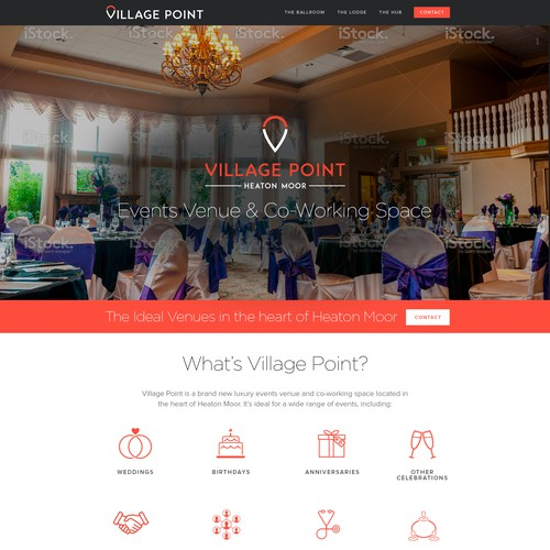 Web Design for a Luxury events venue