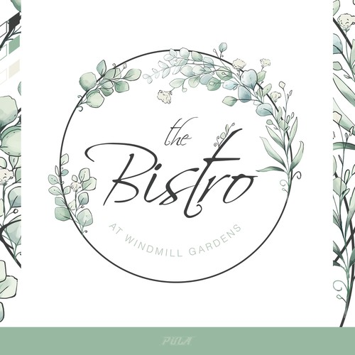 """Watercolor-painting for a contemporary restaurant """"The Bistro"""""""