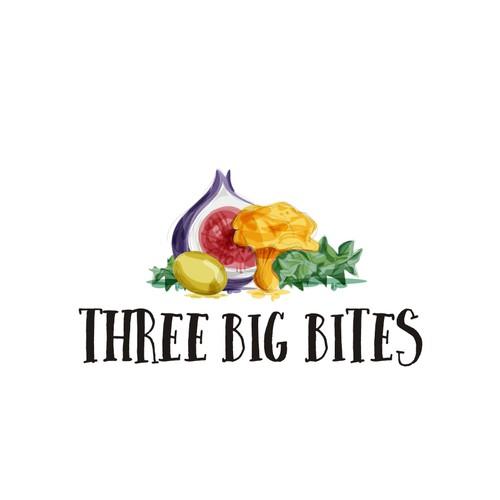 three big bites