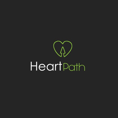 Show the power of the heart in a logo for HeartPath