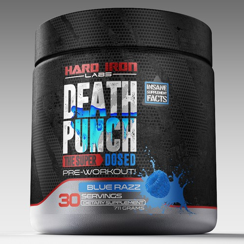 death punch label design