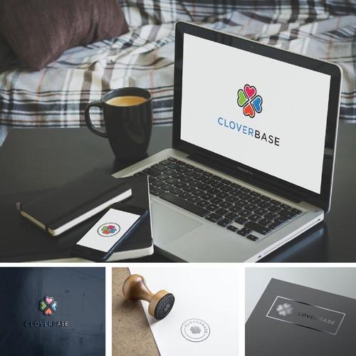 Modern logo for Cloverbase