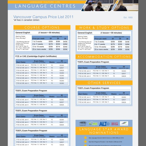 Tamwood International College Price List