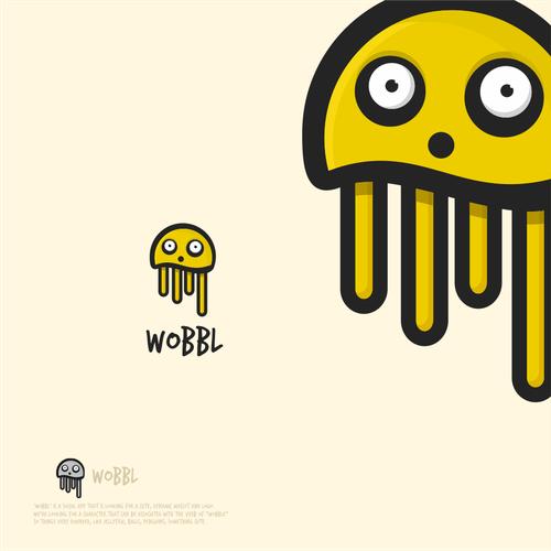 Mascot logo for a social app