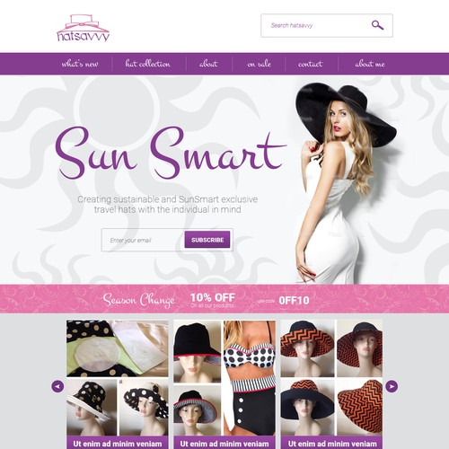 Custom hats website