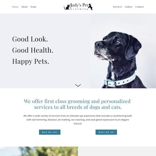 Starter Website for Judy's Pet Grooming