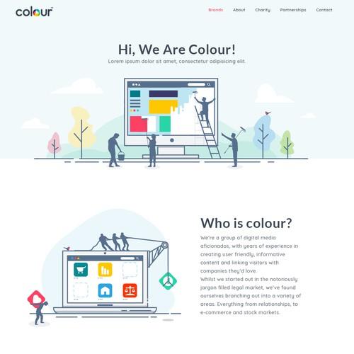 web page + illustrations
