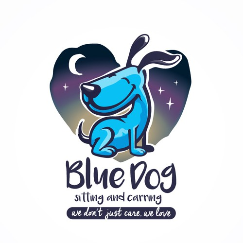 Blue Dog Sitting & Caring Logo