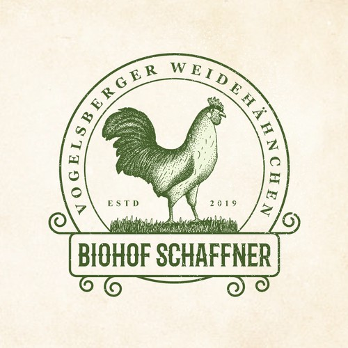 Eco farm with free-range chicken needs catchy logo