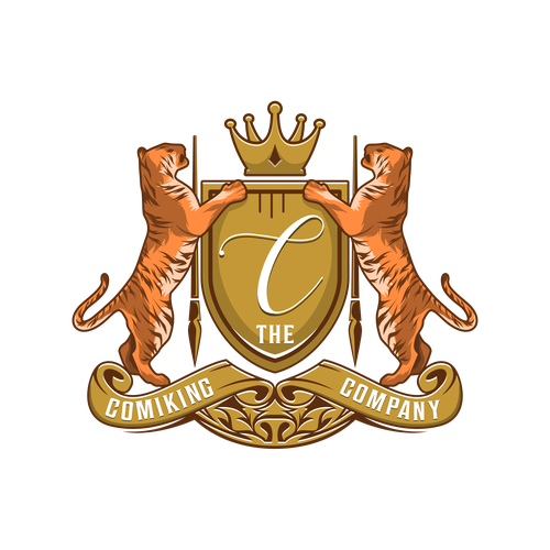 Heraldry logo for a Media Production named The Comiking Company