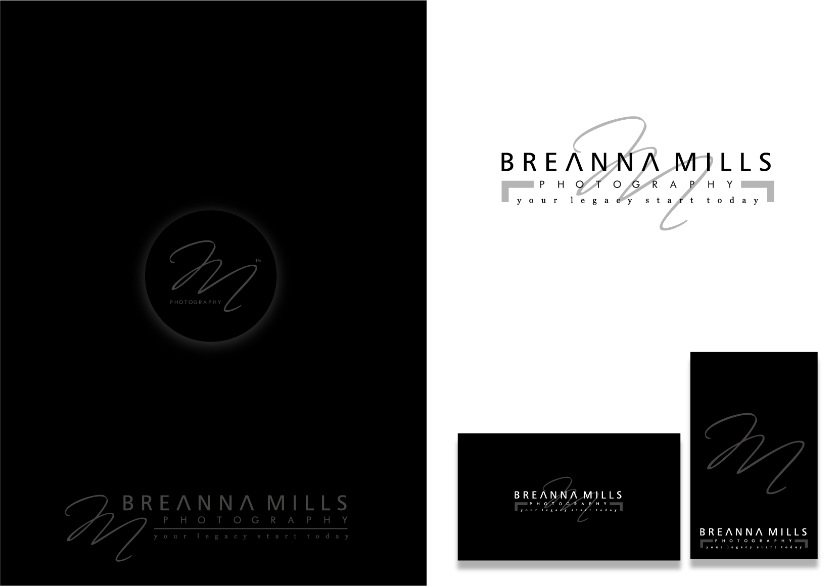 logo for Breanna Mills Photography