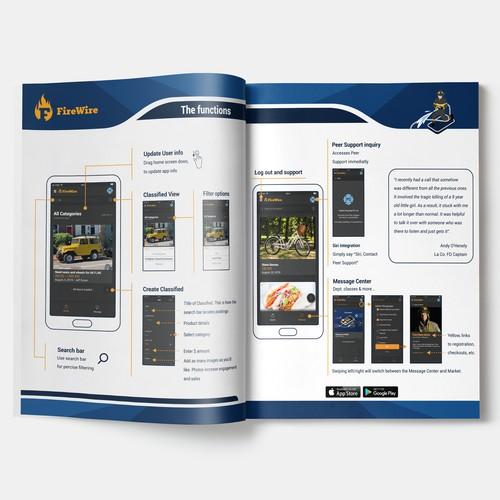 App infographic for magazine
