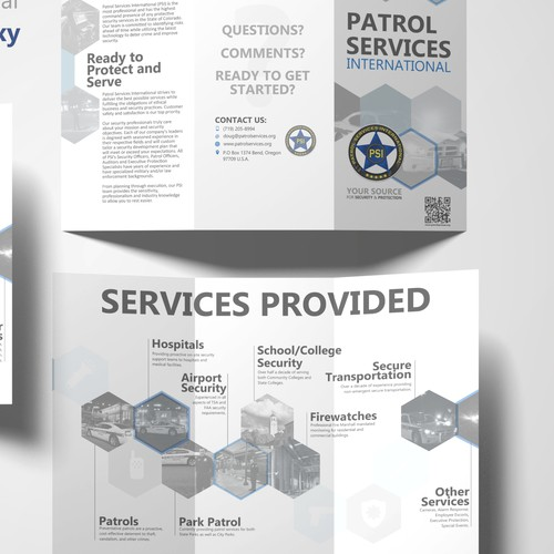 Brochure for booming Security Business