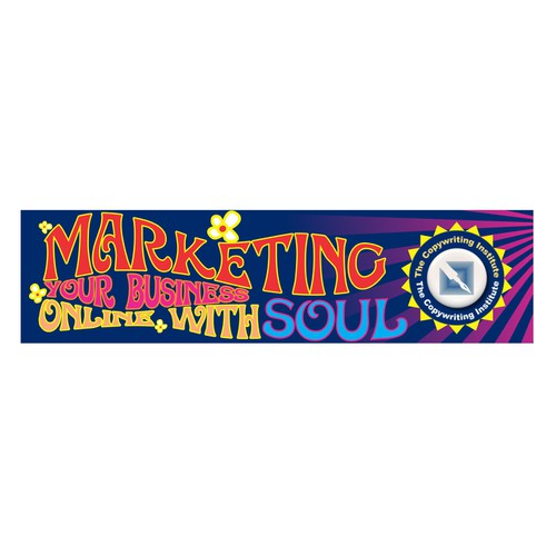 Create a 60's theme website banner for marketing workshop