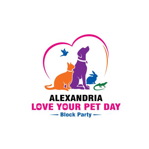 Alexandria Love Your Pet Day Block Party Logo