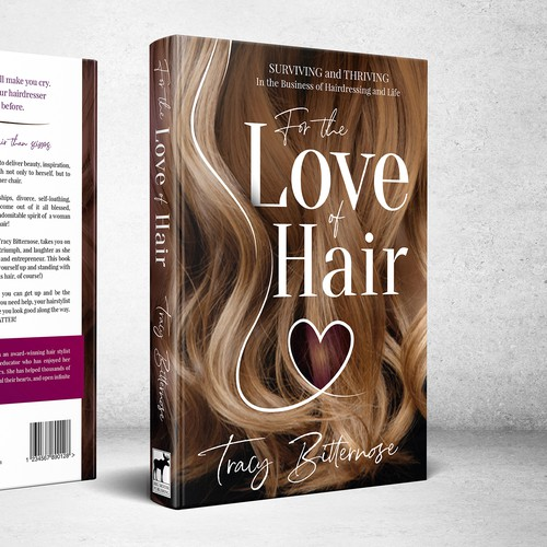 For the Love of Hair - book cover design