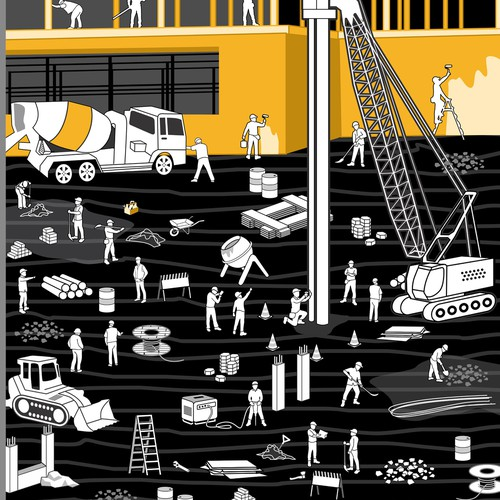 construction site illustration  for SIKA