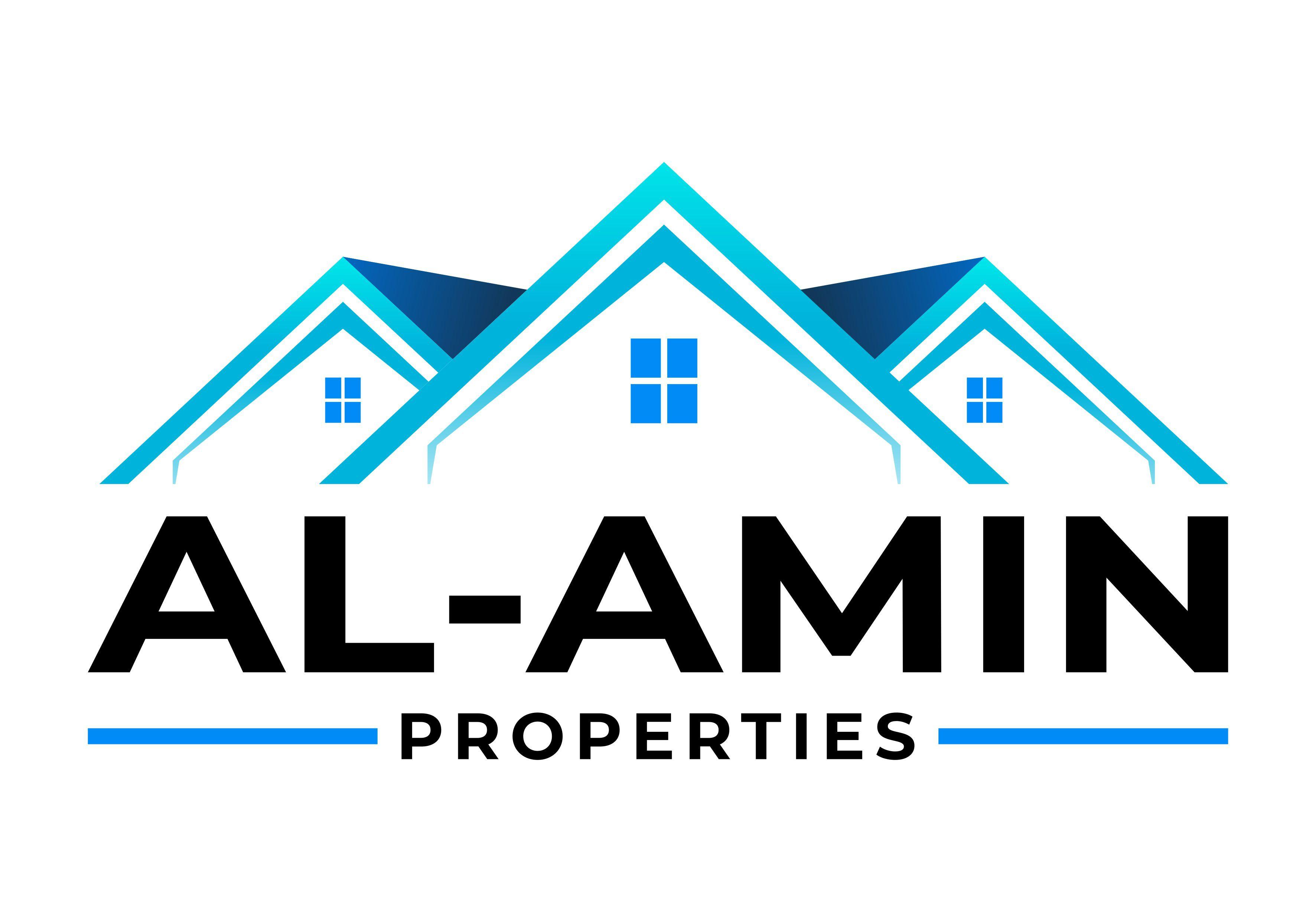 Create a clean, modern logo for Al-Amin properties