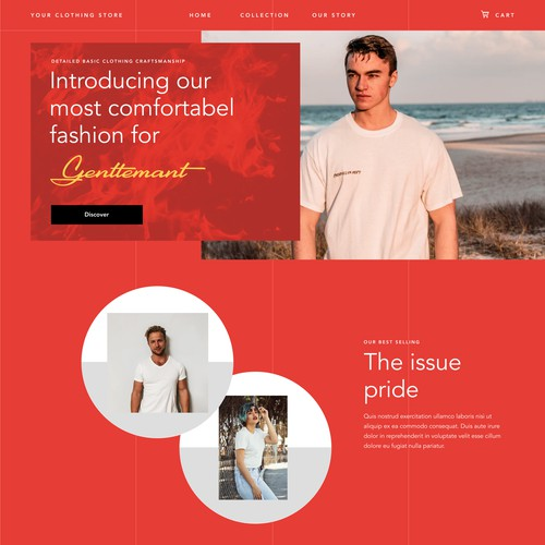 Fashion Web Landing page
