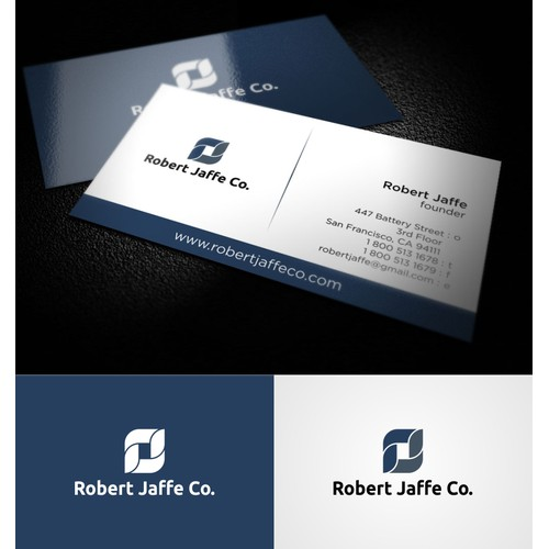 Create the next logo and business card for Robert Jaffe Co.