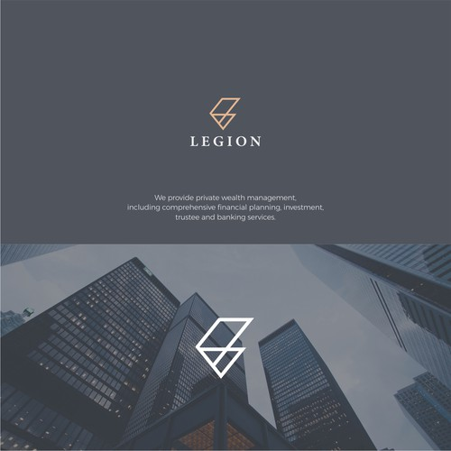 Simple and luxury logo