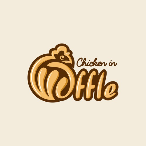 logo for waffle chicken