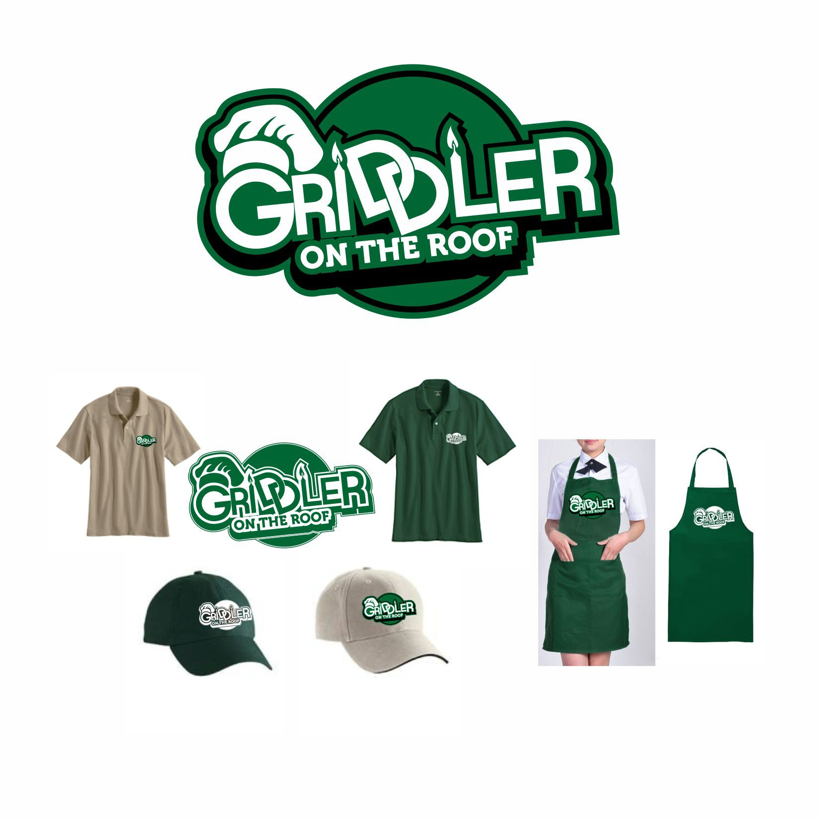 Create a fun logo for Griddler on the Roof food truck.