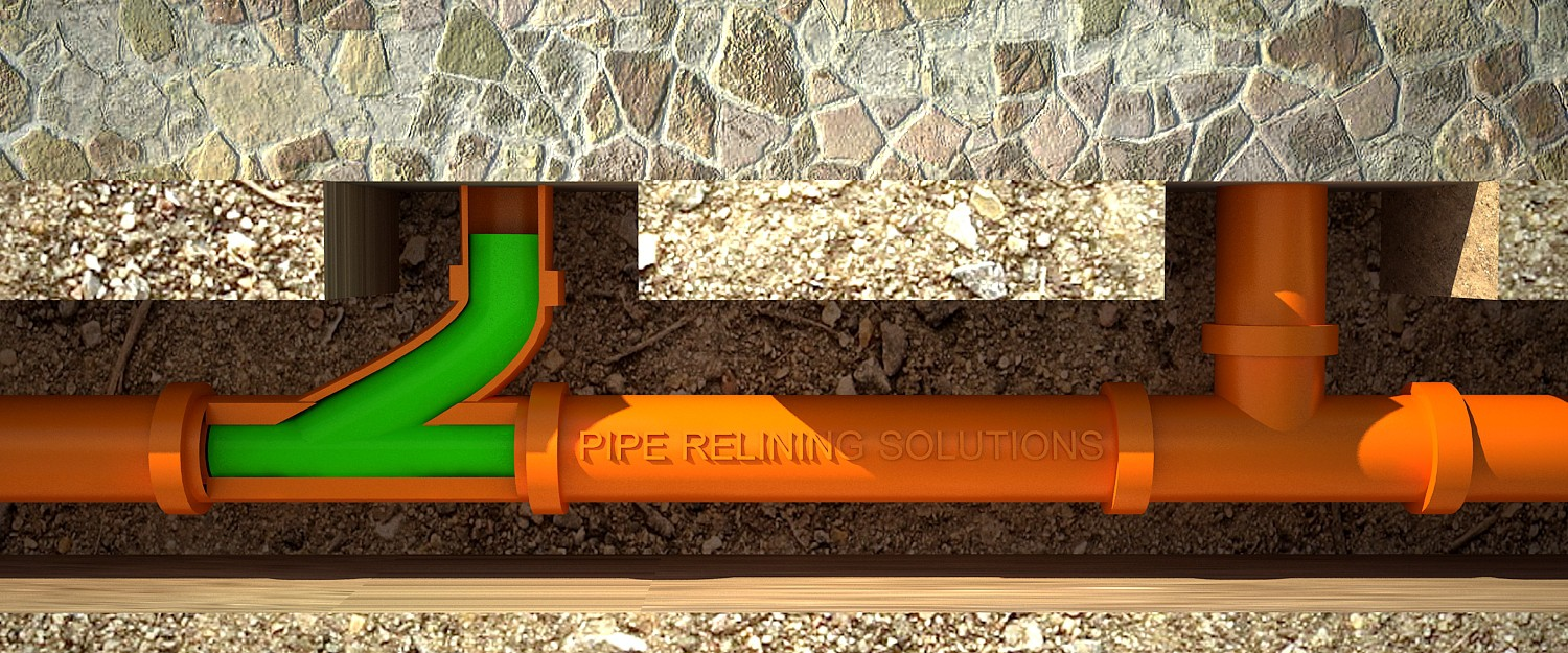 Modification of pipe relining design to depict 'Satellite junction patch'