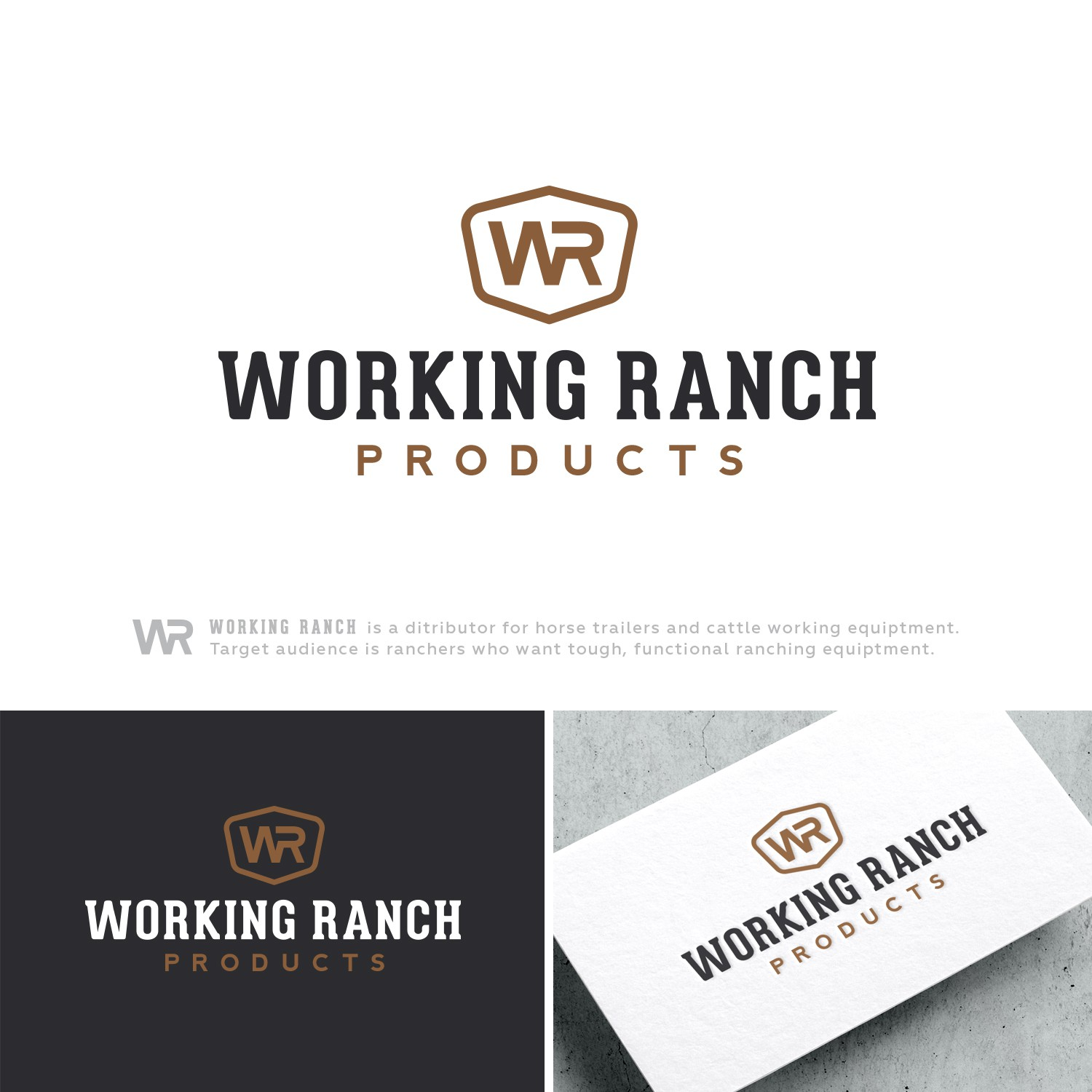 Design a sleek modern logo that targets buyers who want tough durable ranching equipment