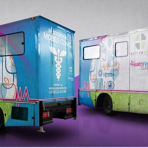 Mobile clinic van branding