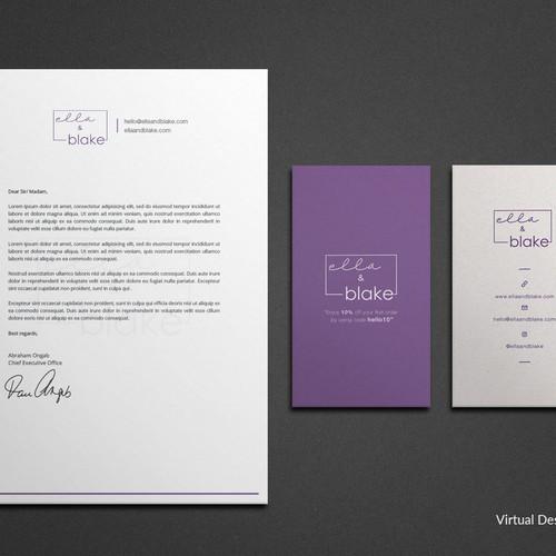 Stationery Design for ella & blake
