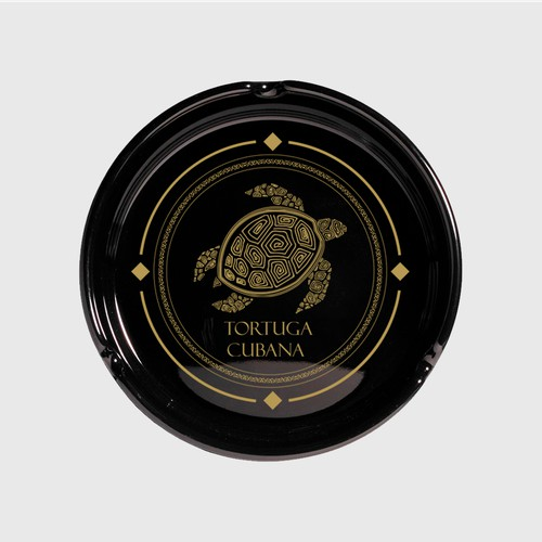 Logo for Tortuga Cubana. Logo that can be printed in the center of a ashtrays as well as on boxes.