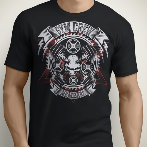 Gym Crew Member T-shirt contest crossfit