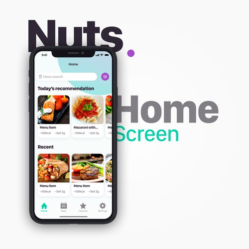 Nuts Home Screen